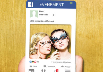 Cadre photobooth personnalisable Facebook