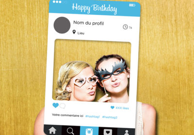 Impression cadre photobooth personnalise Instagram