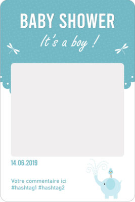 Cadre photobooth personnalise baby shower garcon