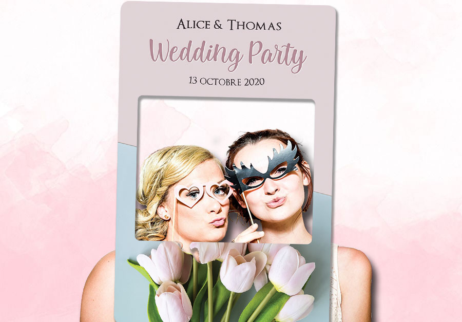 cadre photobooth mariage decoration fleurs