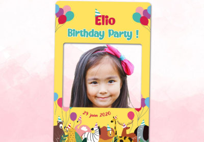 Cadre photobooth animation anniversaire enfant animaux