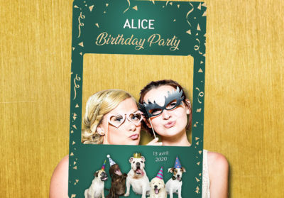 Cadre photobooth anniversaire animation fans chiens animaux