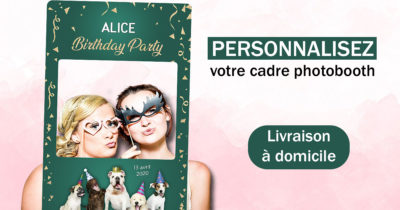 Cadre photobooth anniversaire personnalise chiens animaux