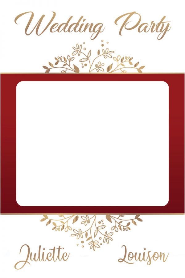 cadre-photobooth-mariage-decoration-rouge-dore