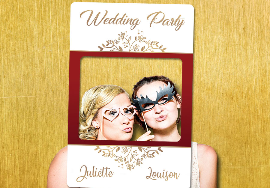 cadre-photobooth-mariage-decoration-rouge-or
